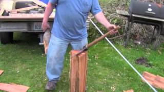 Outhouse Chronicles 111 Splitting Cedar Shakes