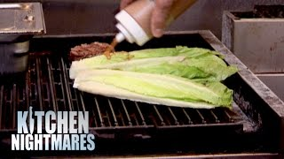 Chef Serves Gordon Grilled Lettuce - Kitchen Nightmares - Kitchen Nightmares
