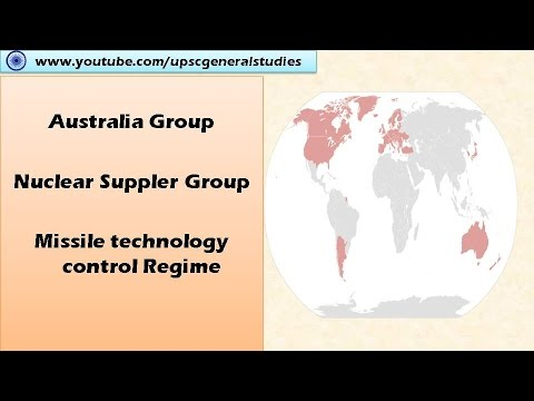 Australia Group: Nuclear Supplier Group : Missile treaty control regime