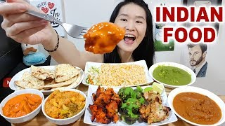 INDIAN TANDOORI FEAST! Butter Chicken, Tikka, Mutton Curry Biryani, Palak Paneer Eating Show Mukbang