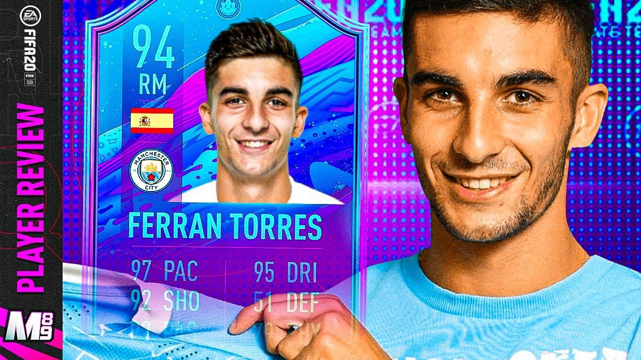94 Man City Ferran Torres Player Review 94 Sbc Ferran Torres Review Fifa 20 Ultimate Team Youtube