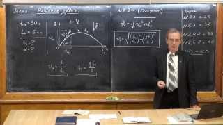 Урок 40. Задачи на движение тела, брошенного под углом к горизонту (ч.1)