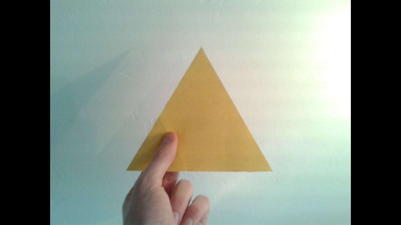 How To Make A Paper Equilateral Triangle Youtube