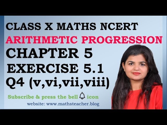 Chapter 5 Arithmetic Progression Ex 5.1 Q4(v,vi,vii,viii) Class 10 Maths