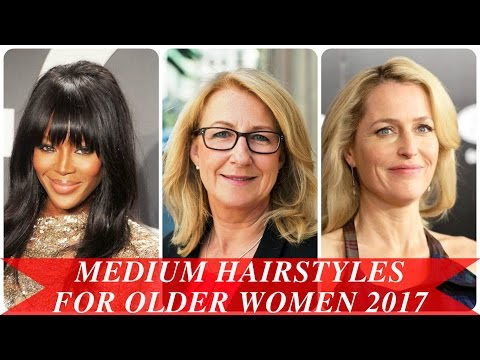 Medium hairstyles for older women 2017