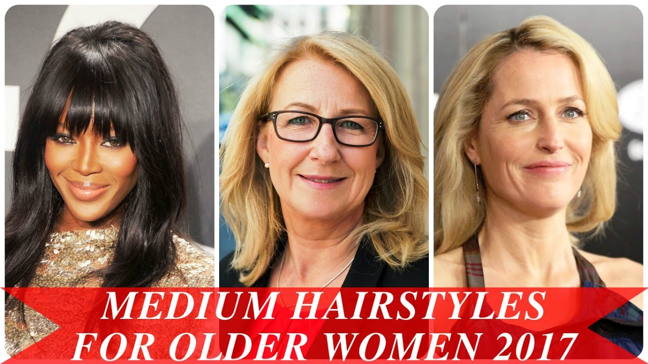 Medium Hairstyles For Older Women 2017 Youtube