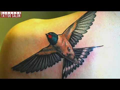 12 - Тату Ласточка - значение татуировки