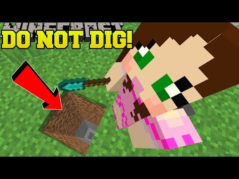 Minecraft: *NEVER* DIG STRAIGHT DOWN! - CENTER OF THE EARTH - Custom Map