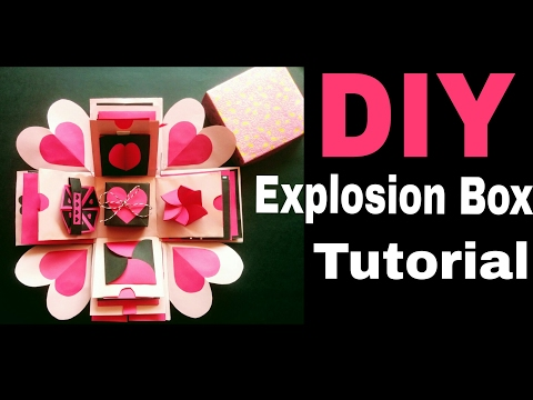 Explosion Box Tutorial | DIY | Valentine's /Anniversary Gift Idea
