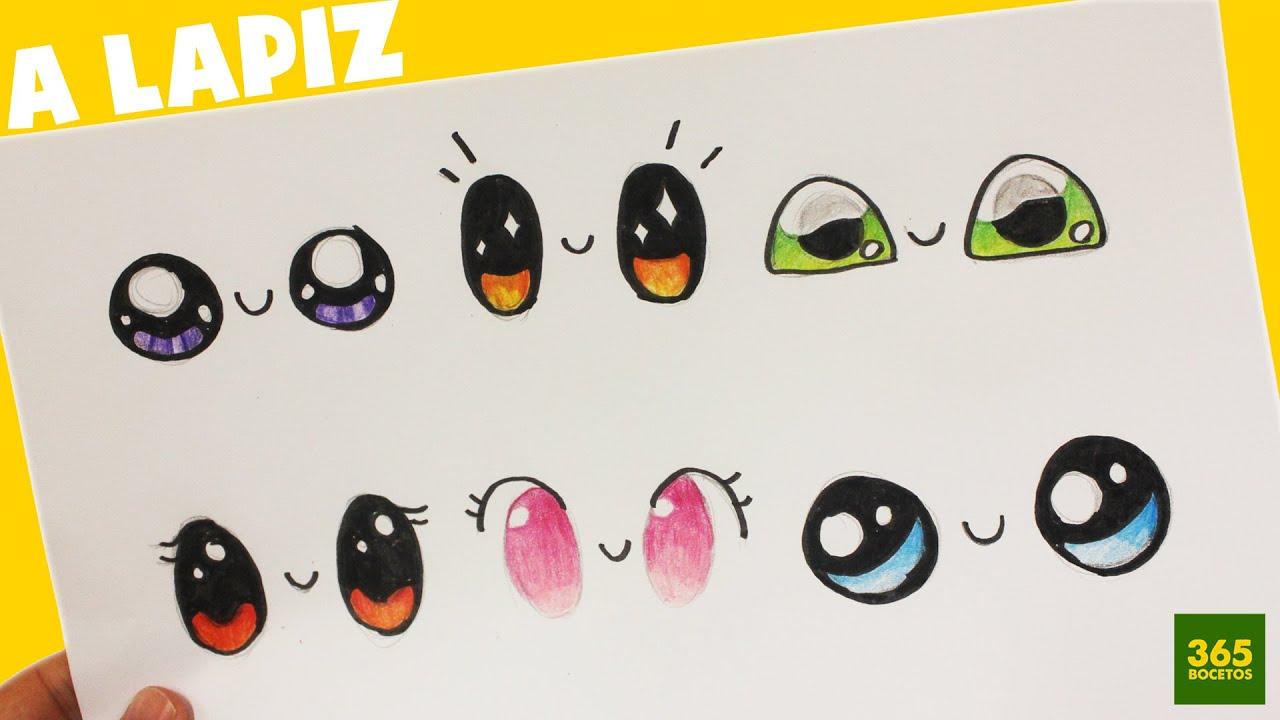Dibujos Mas Fasiles Para Dibujar: COMO DIBUJAR OJOS KAWAII PASO A PASO