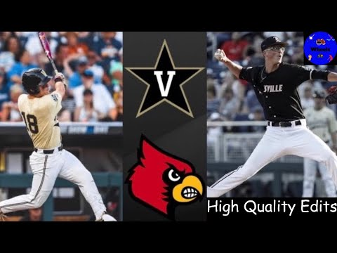 2 Vanderbilt Vs 7 Louisville College World Series Clinching Game College Baseball Highlights