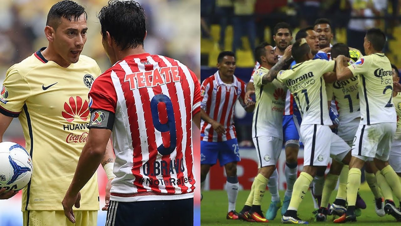 c75a3289f78 America Vs Chivas ( Fights,Fouls,Red Card) - YouTube