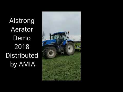 Alstrong 840T Aerator working in England 2018 exclusively distributed in mainland UK by AMIA