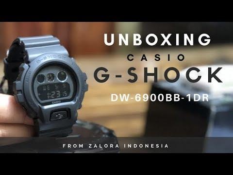 Unboxing CASIO G-SHOCK DW-6900BB-1DR from ZALORA | EK18VLOG#101