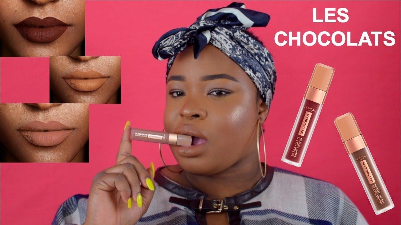 Loreal Les Chocolats Ultra Matte Liquid Lipstick Review On Dark