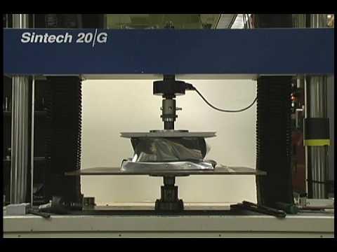 Impact attenuator crush test - YouTube