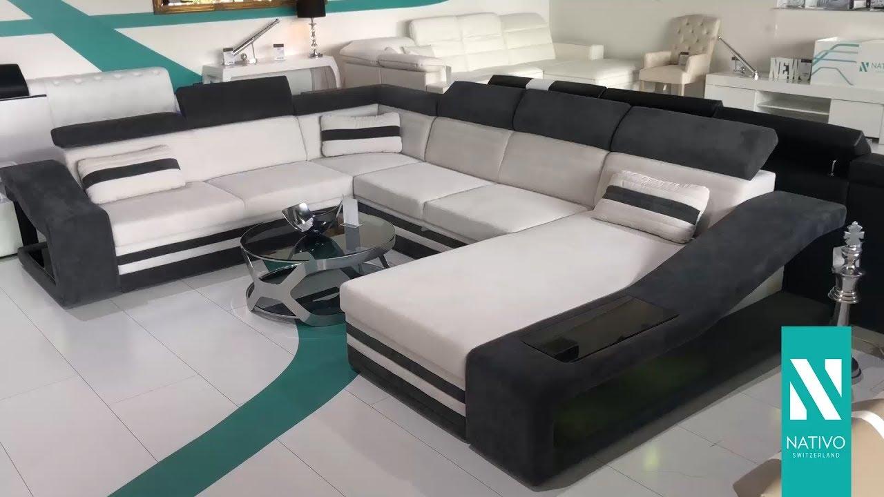 nativo m bel schweiz designer sofa mirage xxl mit led. Black Bedroom Furniture Sets. Home Design Ideas