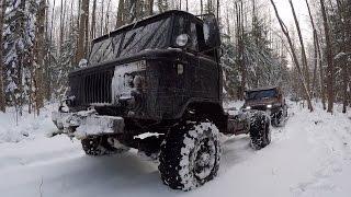 ГАЗ - 66 (Пуговка) - тюнинг фото, видео по бездорожью