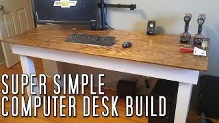 Follow along as I build a simple computer desk for my office space. My Favorite Hat: http://amzn.to/2xn67Xj My Favorite Gas Can: