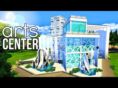 The Sims 4 | CAMPUS ARTS CENTER #SolidColorChallenge | Speed Build