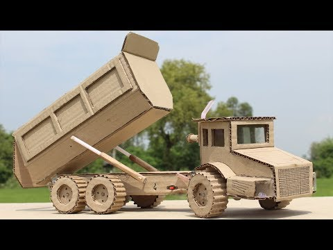 Wow! How to Make a Dump Truck with Cardboard at Home