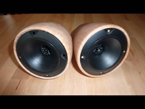 Woodturning How To Make Custom Stereo Speaker Enclosure
