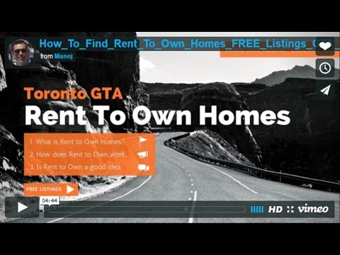 How to Find Rent To Own Homes 100+ FREE Toronto GTA Listings?