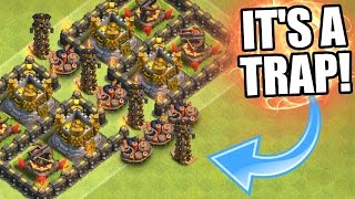 Clash Of Clans | EPIC TOWN HALL 11 LOOT TROLL BASE!! | Valley Of Death 3.0 2016!