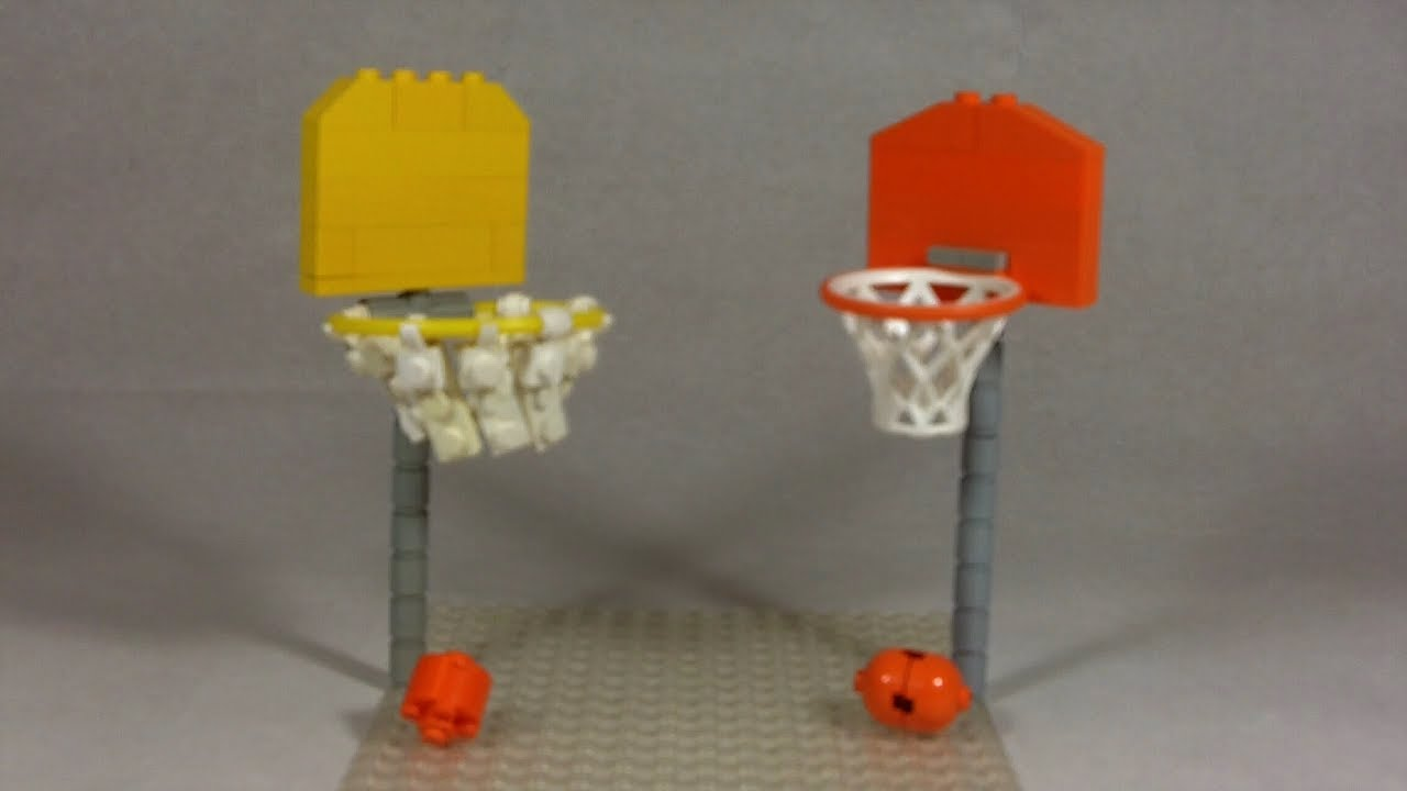 How To Build A Lego Basketball Hoop Youtube