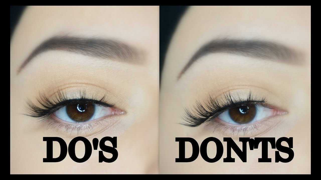 56605a8fd78 FALSE LASHES DO'S & DON'TS | HOW TO APPLY FALSE LASHES FOR BEGINNERS ...