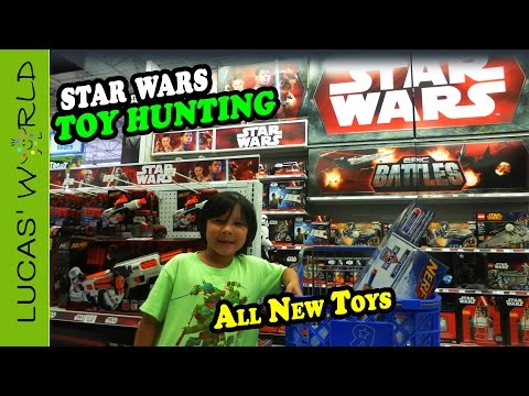 Toy Hunting For All New STAR WARS Toys, LEGO And NERF Blasters Guns   Lucas World