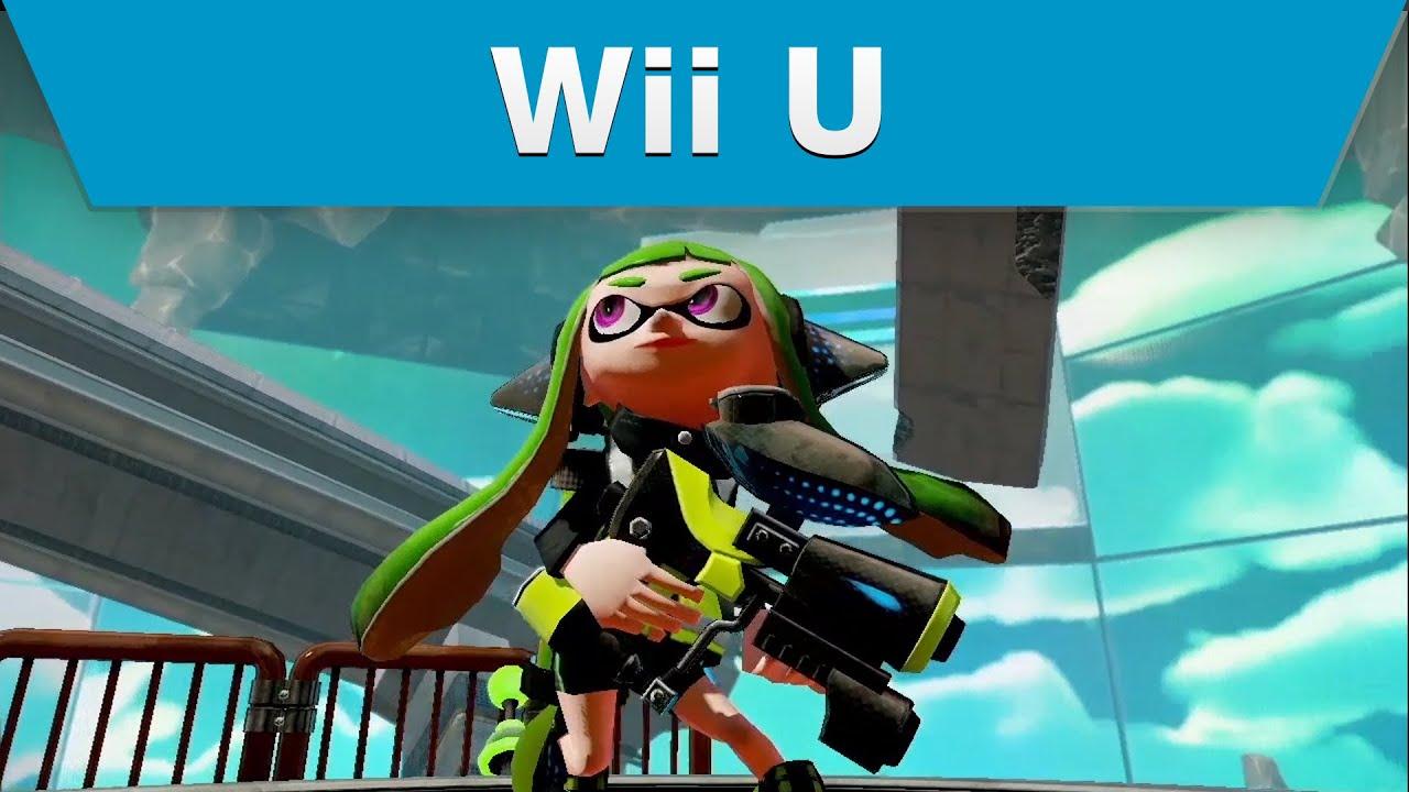 Wii U Game Trailer : Wii u splatoon single player trailer fps youtube