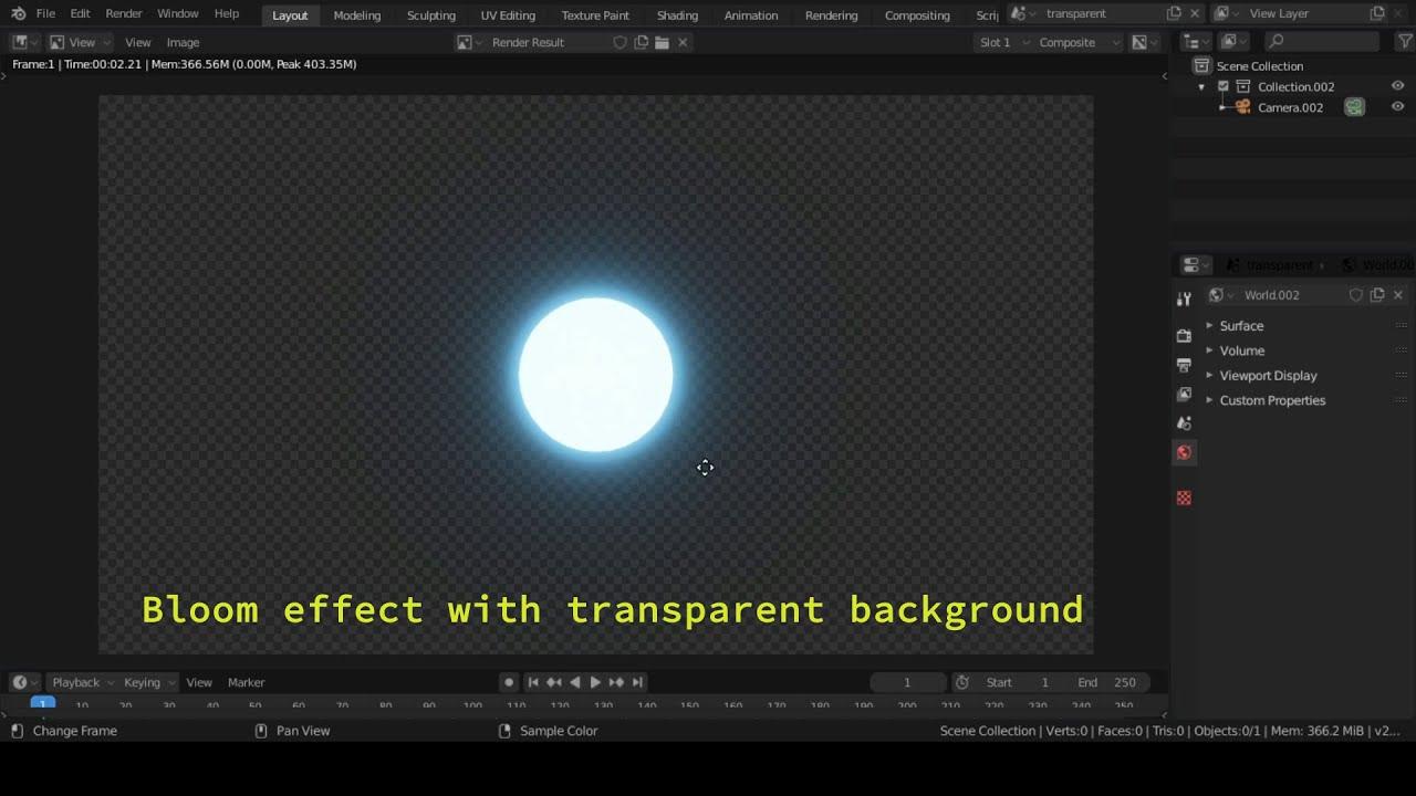 blender eevee transparent background