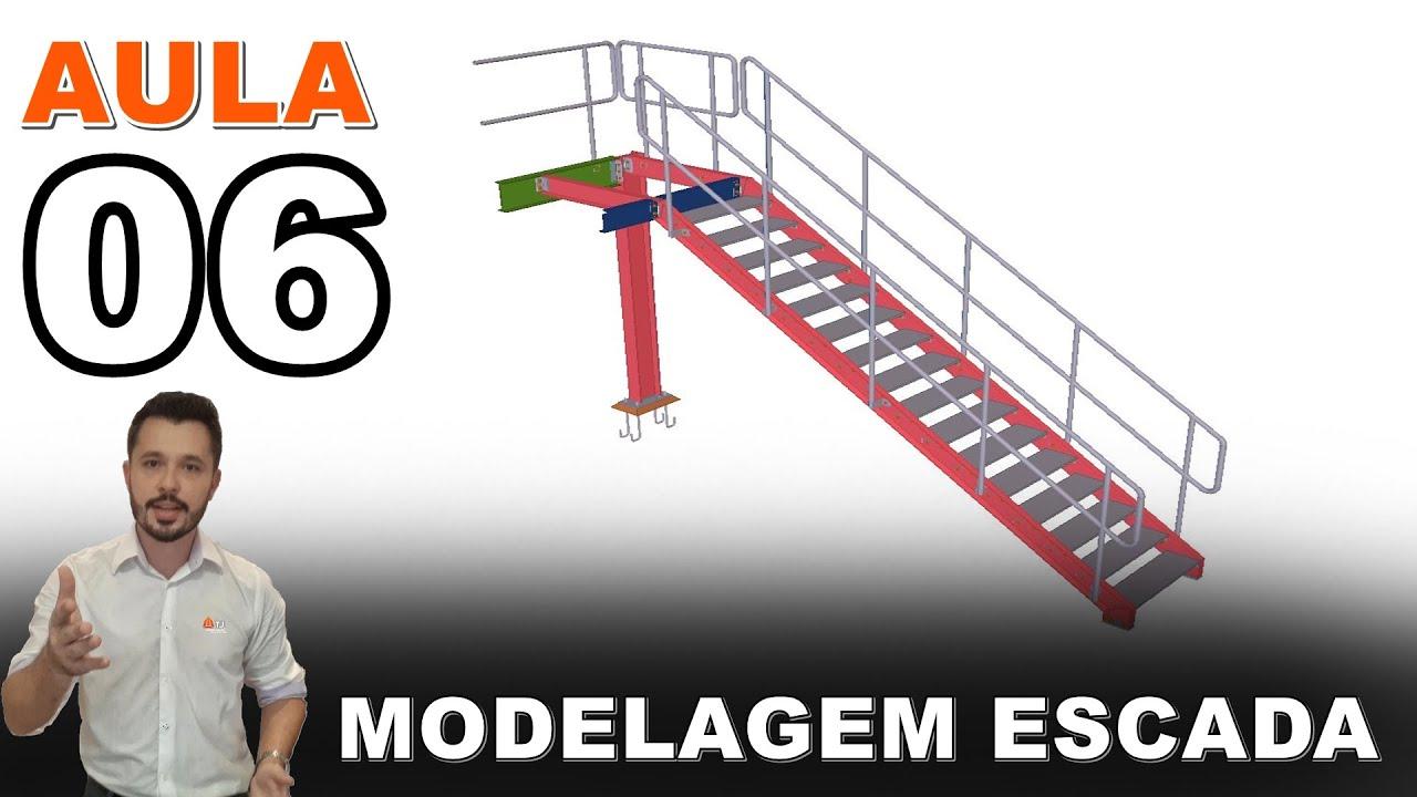 Mezanino - Curso Tekla Structures - Aula 06 - Modelagem da Escada