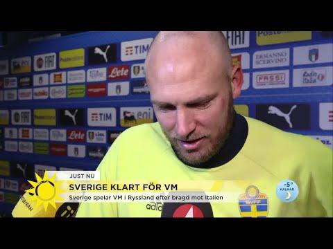 """Granqvist om bragden: """"Har aldrig varit så nervös inför en match"""" - Nyhetsmorgon (TV4)"""