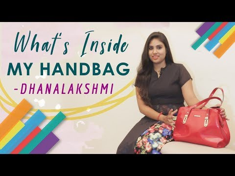 What's Inside My Handbag with Zee Tamil Serial Artist Dhanalakshmi