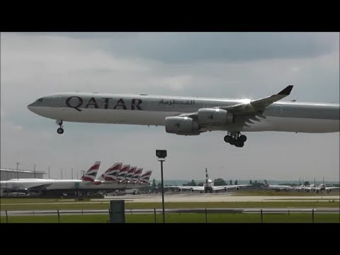 Afternoon Arrivals at London Heathrow Airport, LHR | 01/07/14