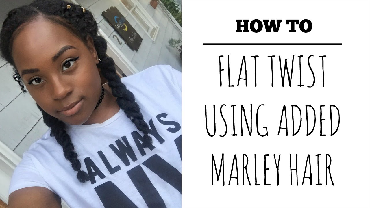 how to| 2 flat twists using marley hair