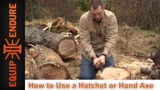 How to Use a Hatchet or Hand Axe, Skill Training