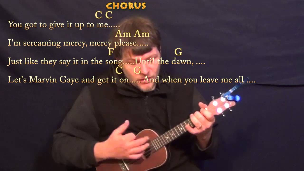 Marvin Gaye Charlie Puth Ukulele Cover Lesson in C with Chords/Lyrics