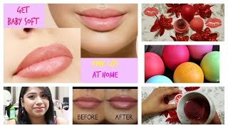 How To Make Your Own Lip Balm For Soft Pink Lips || (DIY Month)5 minute EOS LiP Balm & Lip Scrub💋
