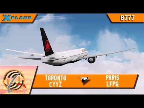 [X-PLANE] Toronto [CYYZ] to Paris [LFPG]   ACA351   B777 [IVAO]