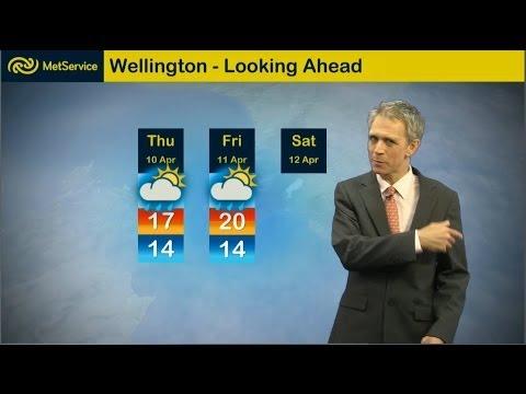 Dan Corbett - rain going sideways - Met Service New Zealand 9 April 2014