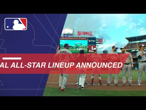 American League lineups announced in DC