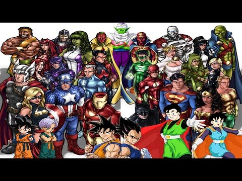 Top 88 Most Powerful & Strongest of the Marvel vs DC Comics vs Dragon Ball Z / GT (anime)