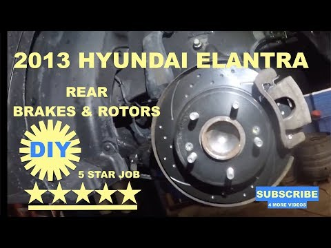 How to replace rear brake pads on 2013 Hyundai Elantra