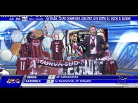 Juventus-Milan 0-3, le reazioni e le esultanze a Novastadio