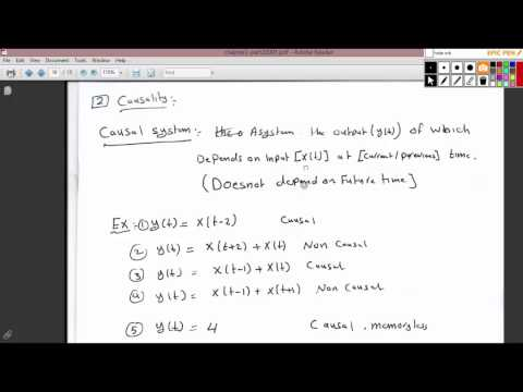 properties of continuous time systems,causaltiy , Linearity 13