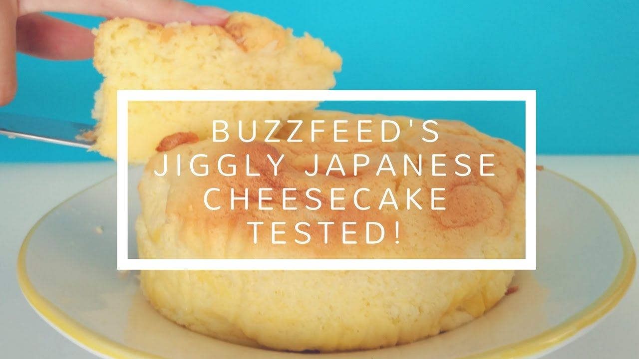 fluffy jiggly japanese cheesecake recipe by tasty fluffy jiggly