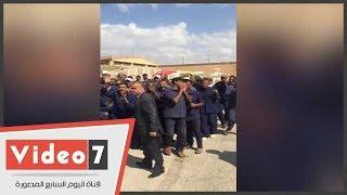 مباراة كرة قدم بين السجناء فى ملاعب سجن برج العرب
